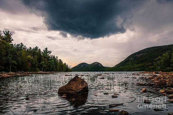 Wall Art - Photograph - Rain Cloud Over Jordan Pond by Diane Diederich