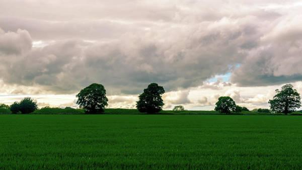 Photograph - Rain Clouds Above Fields In Somerset England by Jacek Wojnarowski