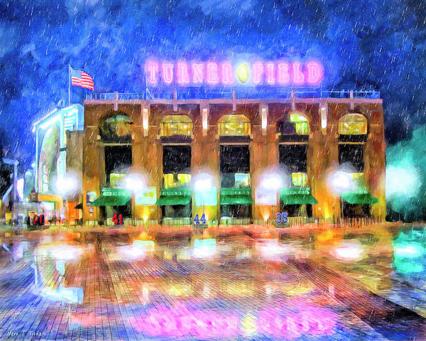 Wall Art - Painting - Rain Delay - The Ted by Mark Tisdale