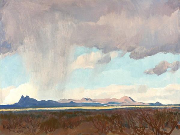 Wall Art - Painting - Rain For The Gulf by Maynard Dixon