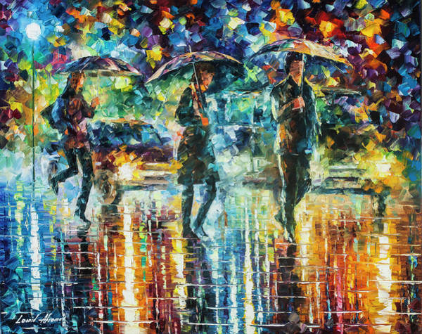 Wall Art - Painting - Rain Full Of Surprises by Leonid Afremov