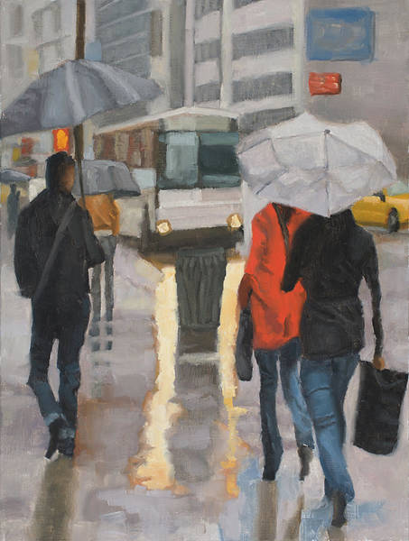 Wall Art - Painting - Rain In Midtown by Tate Hamilton