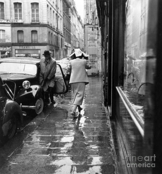 Wall Art - Photograph - Rain In Paris, July 19, 1956  by French School