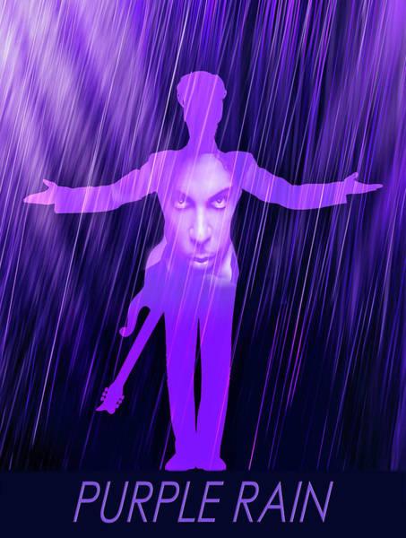 Prince Rogers Nelson Wall Art - Digital Art - Rain by Mal Bray
