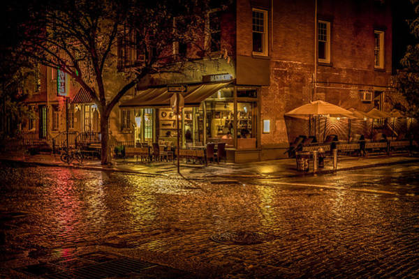 Photograph - Rain On The Cobblestones Of Greenwich Village by Chris Lord