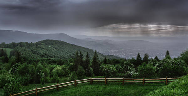 Photograph - Rain Over The Silesian Beskids by Dmytro Korol