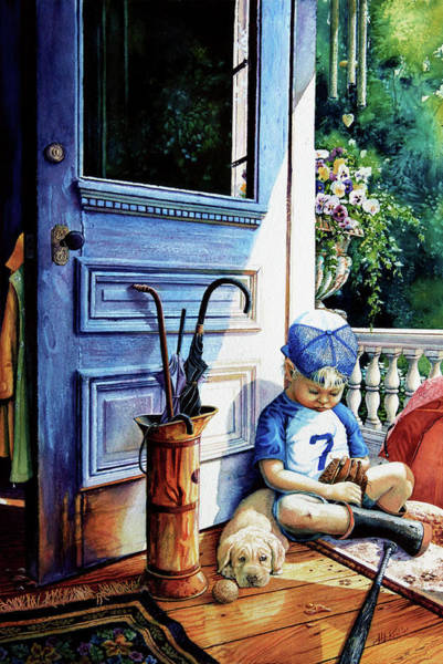 Boys Room Painting - Rain Rain Go Away by Hanne Lore Koehler