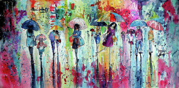 Wall Art - Painting - rain, rain, rain.... II  by Kovacs Anna Brigitta