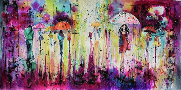 Wall Art - Painting - Rain, Rain, Rain.... by Kovacs Anna Brigitta