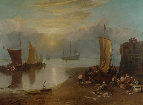 Ocean Scape Painting - Rain, Steam, And Speed - Sun Rising Through Vapour by Joseph Mallord William Turner