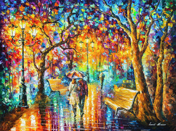 Wall Art - Painting -  Rain Vs Love by Leonid Afremov