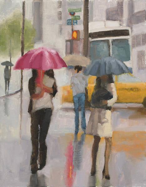 Wall Art - Painting - Rain Walk by Tate Hamilton