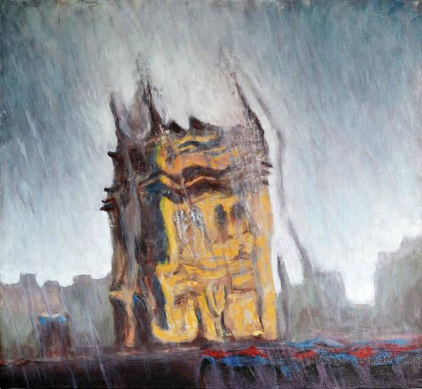 Mumbai Painting - Rain Washed Mumbai by Uma Krishnamoorthy