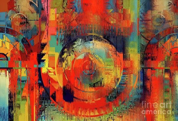 Wall Art - Digital Art - Rainbolo-1t1-j023045050 by Variance Collections
