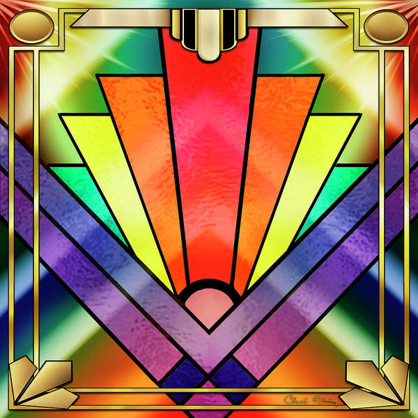 Digital Art - Art Deco Chevron 1 by Chuck Staley