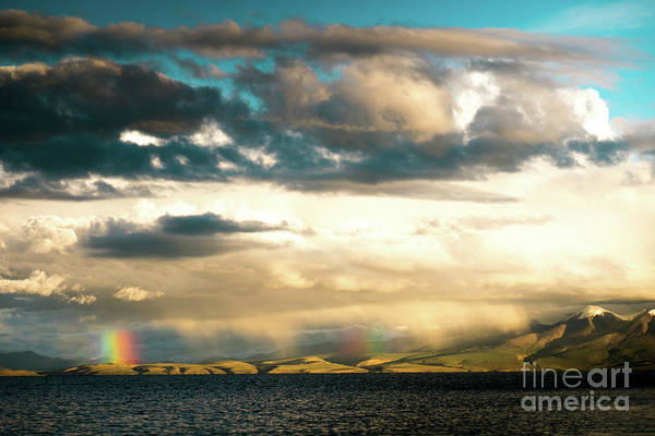 Photograph - Rainbow Above Lake Manasarovar Kailas Yantra.lv by Raimond Klavins