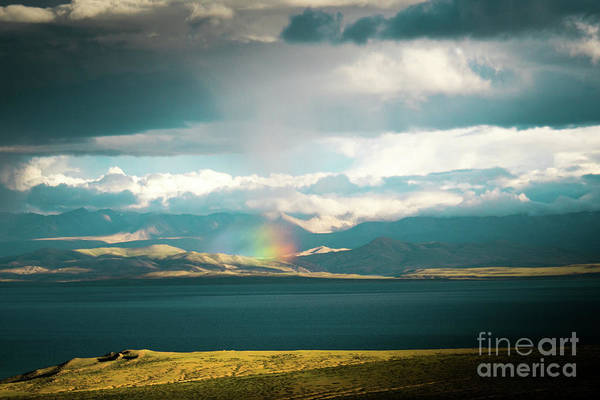 Wall Art - Photograph - Rainbow Above Lake Manasarovar Kailash Yantra.lv by Raimond Klavins