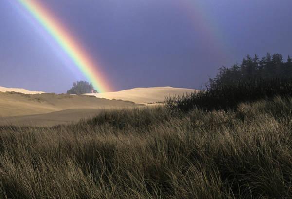 Photograph - Rainbow And Dunes by Robert Potts