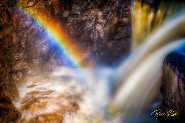 Photograph - Rainbow And Falls by Rikk Flohr