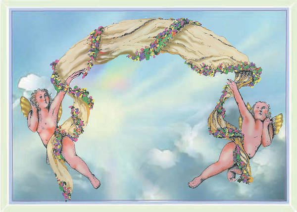 Drawing - Rainbow Angels by Thomas Lupari