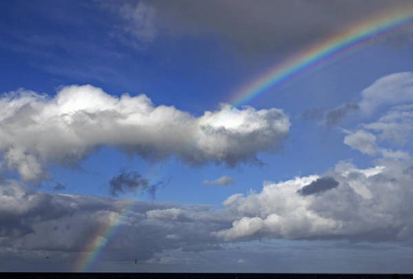 Photograph - Rainbow At Brora by Tony Murtagh