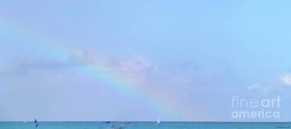 Digital Art - Rainbow At The Beach 2 by Francesca Mackenney