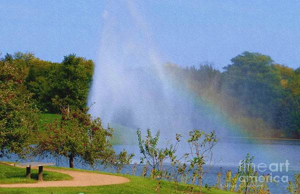 Photograph - Rainbow At The Botanic by Kathie Chicoine