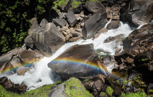 Photograph - Rainbow At Vernal Falls- by JD Mims