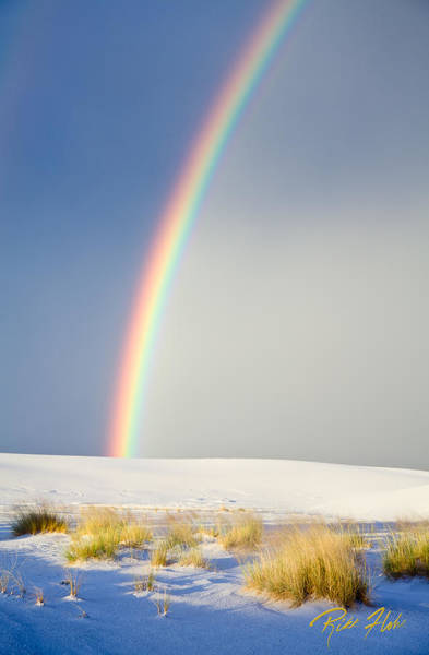 Photograph - Rainbow At White Sands by Rikk Flohr
