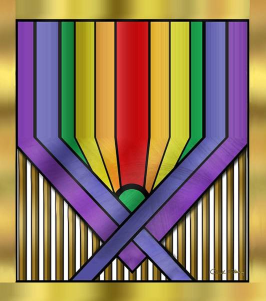 Digital Art - Rainbow Base Transparent by Chuck Staley