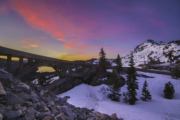 Donner Photograph - Rainbow Bridge Sunrise, Truckee California by Jeremy Jensen