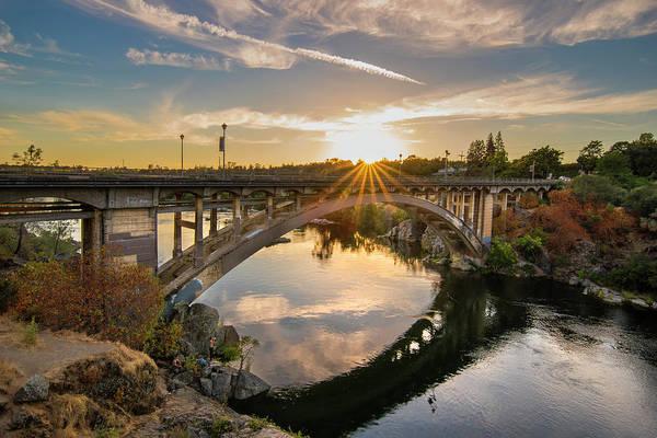 Photograph - Rainbow Bridge Sunset by Jonathan Hansen