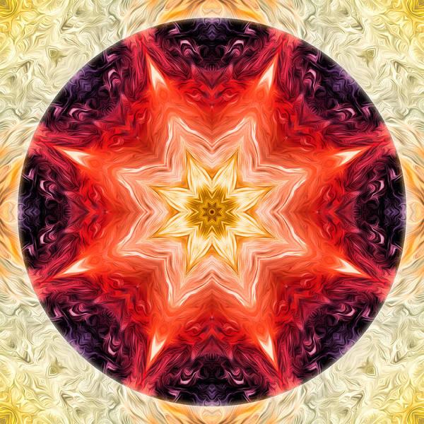 Digital Art - Rainbow Burst Mandala by Beth Sawickie