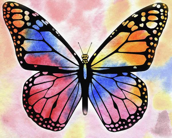 Wall Art - Painting - Rainbow Butterfly by Irina Sztukowski