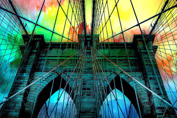 Suspension Bridge Photograph - Rainbow Ceiling  by Az Jackson