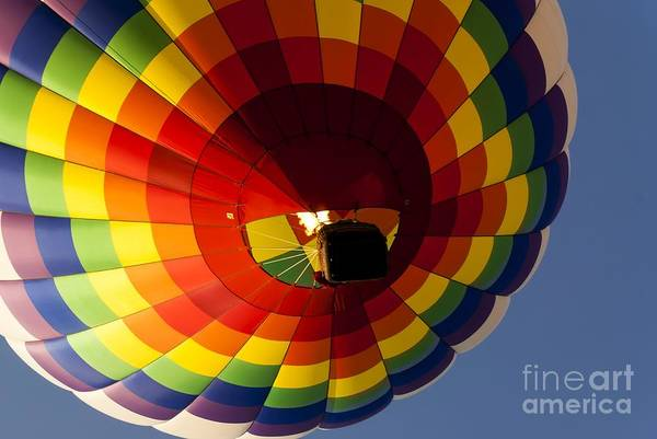 Photograph - Rainbow Checkered Balloon by Anthony Sacco