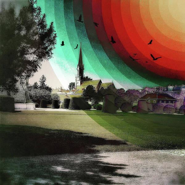 Photograph - Rainbow, Church And Birds by Roberto Pagani