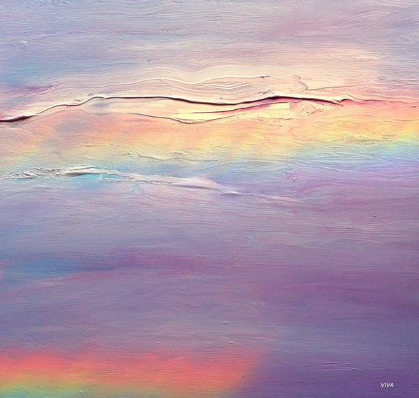 Painting - Rainbow Clouds.  Wip by VIVA Anderson