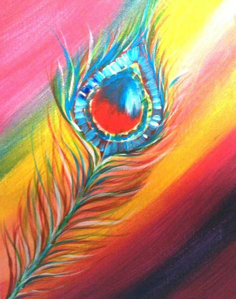 Wall Art - Painting - Rainbow Could Be Anywhere by Anuradha Kumari
