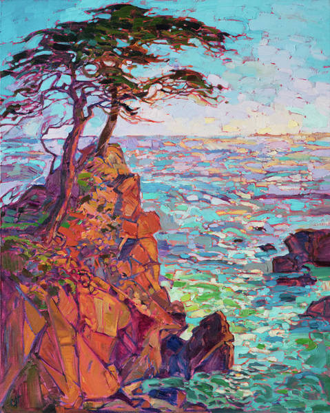 Monterey Wall Art - Painting - Rainbow Cypress by Erin Hanson