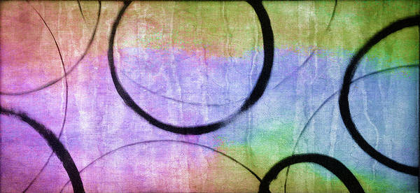 Wall Art - Painting - Rainbow Ensos by Julie Niemela