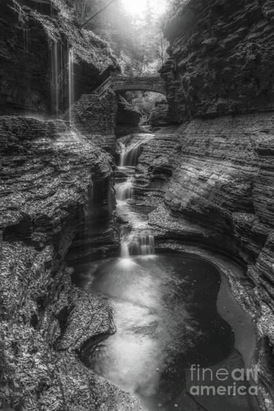 Wall Art - Photograph - Rainbow Falls Black And White by Michael Ver Sprill