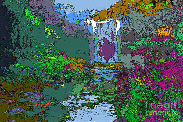 Wall Art - Digital Art - Rainbow Falls Purple by Anthony Forster