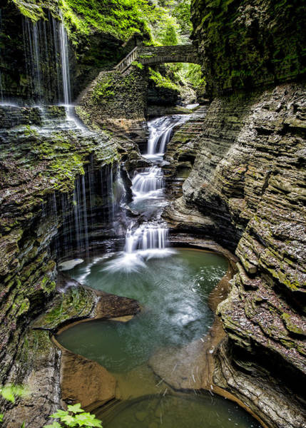 Upstate New York Wall Art - Photograph - Rainbow Falls - Watkins Glen by Stephen Stookey
