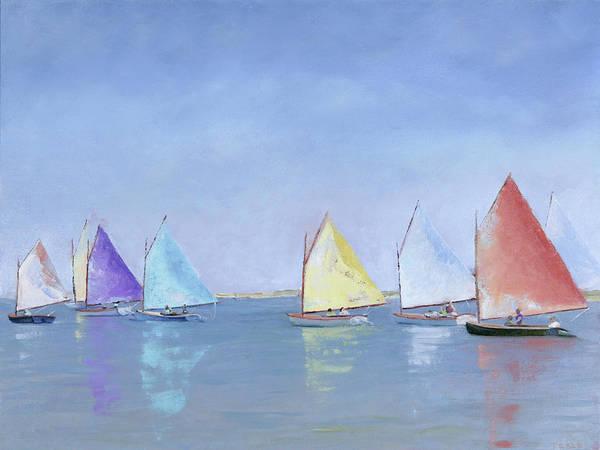 Painting - Rainbow Fleet by Trina Teele