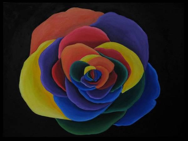 Wall Art - Painting - Rainbow Flower by Alycia Ryan