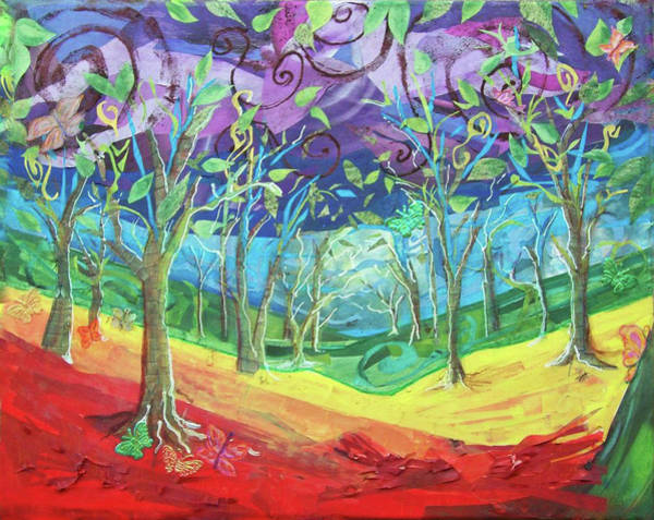 Ant Mixed Media - Rainbow Forest by Emily Perry