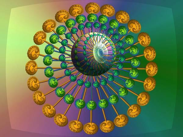 Digital Art - Rainbow Fractal by Vincent Autenrieb