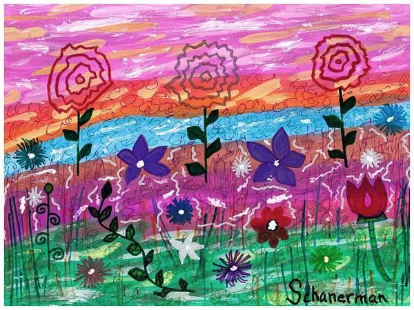 Painting - Rainbow Garden by Susan Schanerman