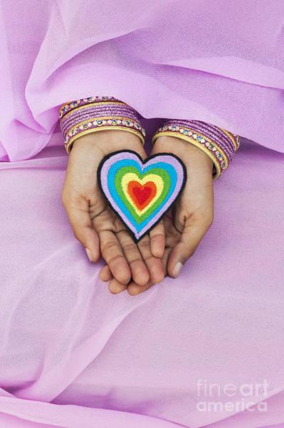 Wall Art - Photograph - Rainbow Heart Hands by Tim Gainey